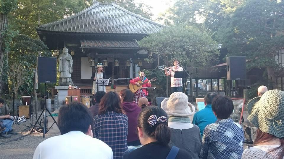 埼玉県飯能市、観音寺でのフリーマーケット「てとてと市」も長年お声をかけて頂いているイベント。これは2015年の時のもの。